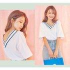 Short-Sleeve V-Neck T-Shirt 1596
