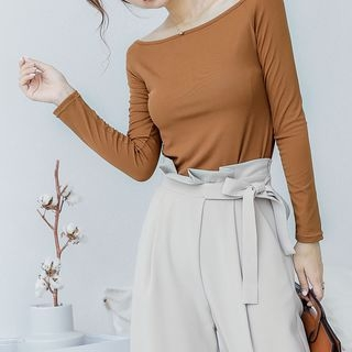 Boatneck Knit Top 1062290708