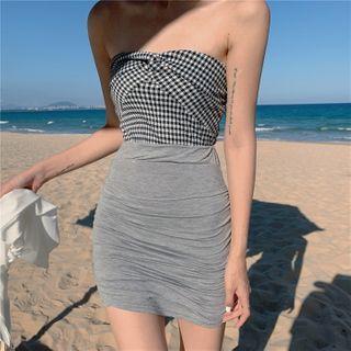 Strapless   Cardigan   Skirt   Mini   Top