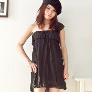 Buy Fashion Lady One-Shoulder Chiffon Dress 1022364051