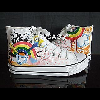 """Rainbow Power"" High-Top Sneakers"