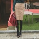Slit-Front Pencil Skirt 1596