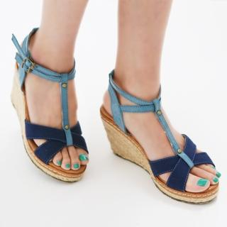 Picture of Jean Stone T-Strap Wedge Sandals 1022522905 (Sandals, Jean Stone Shoes, Korea Shoes, Womens Shoes, Womens Sandals)