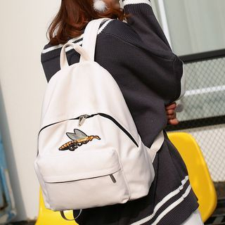 Bee Embroidered Backpack