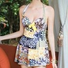 Mixed Print Swimdress 1596