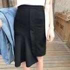 Asymmetric Ruffle Skirt 1596