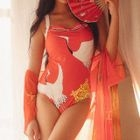 Set: Print Swimsuit + Cover-up 1596