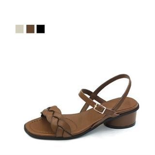 Image of Genuine Leather Braided Sandals