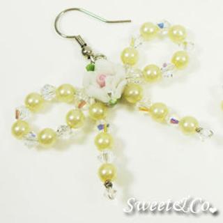 Swarovski | Crystal | Earring | Yellow | Rose