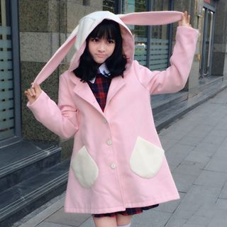 Rabbit Ear Hooded Coat