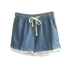 Lace Denim Shorts 1596