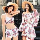 Set: Printed Bikini + Off-Shoulder Cover-Up 1596