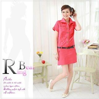 Buy RingBear Tab-Sleeve Shirtdress with Belt 1022757953