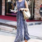 Sleeveless High-Waist Maxi Dress 1596