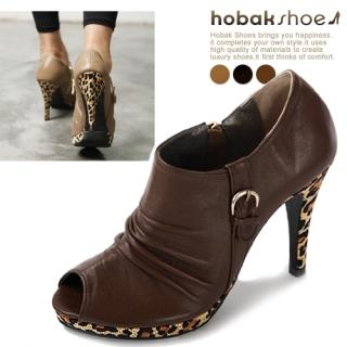 Buy HOBAK girls Genuine Leather Open-Toe Platform Pumps 1023059670