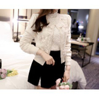 Ribbon Appliqu  Cardigan 1596