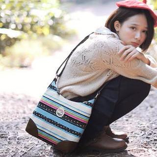 Ethnic-Pattern Crossbody Bag