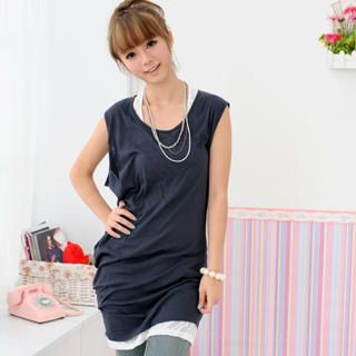 Picture of 59 Seconds Asymmetric-Hem Tank Dress 1022791708 (59 Seconds Tees, Womens Tees, Hong Kong Tees, Causal Tops)