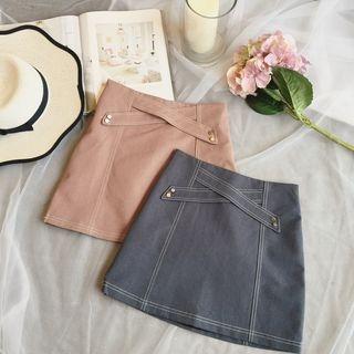 Plain A-line Skirt 1057328833