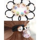 Transparent-Ball Elastic Hair Tie 1596