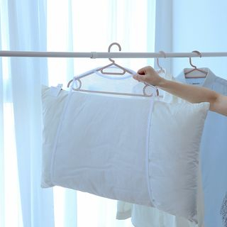 Image of Clothes Hanger with Mesh Holder