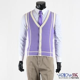 Picture of Yellow Jacket Line Detailed Buttoned Vest 1010681391 (Yellow Jacket, Mens Knits, Korea)