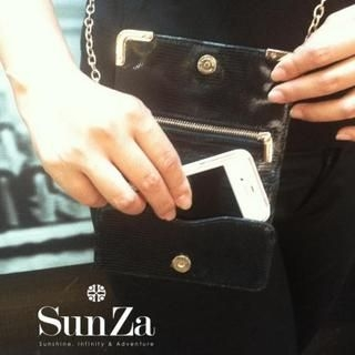 Genuine Leather Pouch Black - One Size