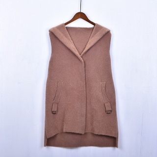 Image of Hooded Knit Vest