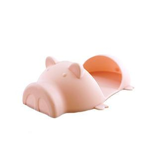 Silicon Piggy Oven Grab Pink - One Size - United states