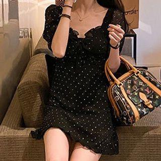 Short-sleeve   Chiffon   Dress   Mini