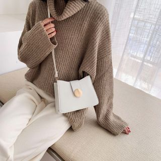 Image of Faux Leather Glitter Crossbody Bag