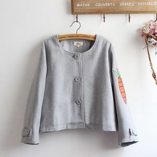 Image of Carrot Embroidered Jacket