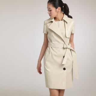Buy J.Ryu Short Sleeve Trench Coat Dress 1022909437