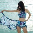 Set: Patterned Halter Bikini + Skirt 1596