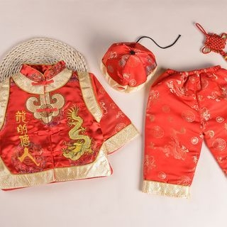 Kids Set: Embroidered Jacket + Pants 1056088555