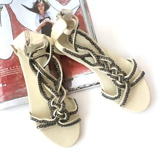 Picture of CLICK Chain Braided Sandals 1022900932 (Sandals, CLICK Shoes, Korea Shoes, Womens Shoes, Womens Sandals)