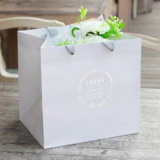 Set of 5: Printed Paper Gift Bag  Light Gray - One Size