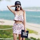 Set: Tankini Top + Swim Panties + Skirt 1596