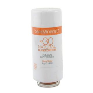 BareMinerals Natural Sunscreen SPF 30 For Face and Body - Tan 4g/0.14oz