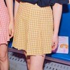 Inset Shorts Pleated Check Mini Skirt 1596