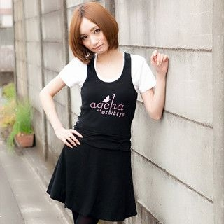 Buy ageha@shibuya ageha@shibuya Racerback Tank Dress Black – One Size 1022193130