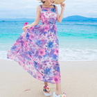 Floral Print Sleeveless Maxi Dress 1596