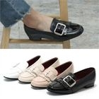Buckle-Trim Patent Loafers 1596