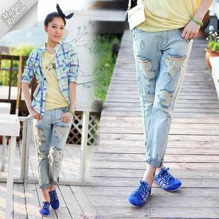 Buy Mango Ribbon Distressed Jeans 1022987971