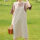 Set: Short-Sleeve T-Shirt + Plaid Pinafore Dress 1596