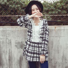 Long-Sleeve Plaid Tunic White - S от YesStyle.com INT