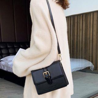 Image of Belted Flap Crossbody Bag