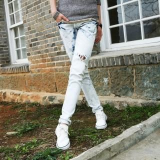 Buy Style Engine Distressed Detail Washed Skinny Jeans 1022550977