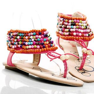 Buy Kvoll Beaded Thong Sandals 1022979426