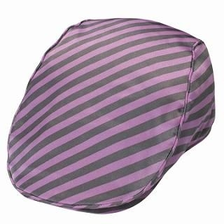 Buy GRACE Striped Satin Hunting Cap Purple – One Size 1022099645